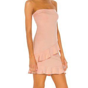 Lovers + Friends Leo Strapless Pink Dress Small